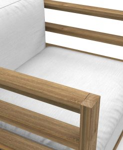 Bermudafied Club Chair Luxury Teak Aluminum