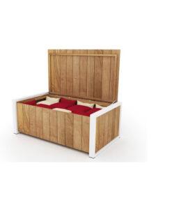 Bermudafied Cushion Box Luxury Outdoor Teak Aluminum Furniture