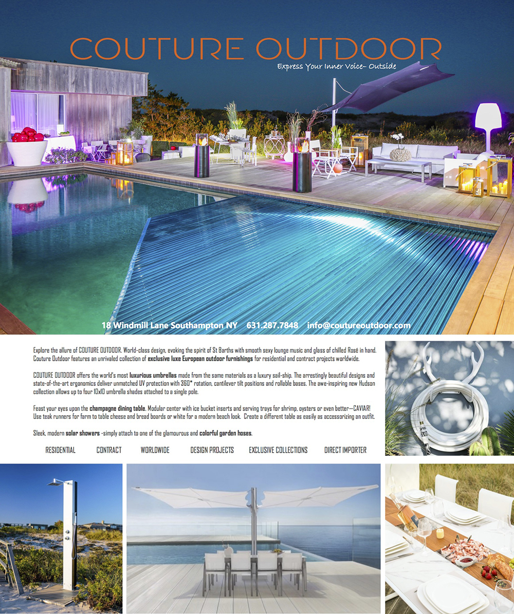 Hamptons Real Estate Show Case July 4 Couture Outdoor Furniture Ad
