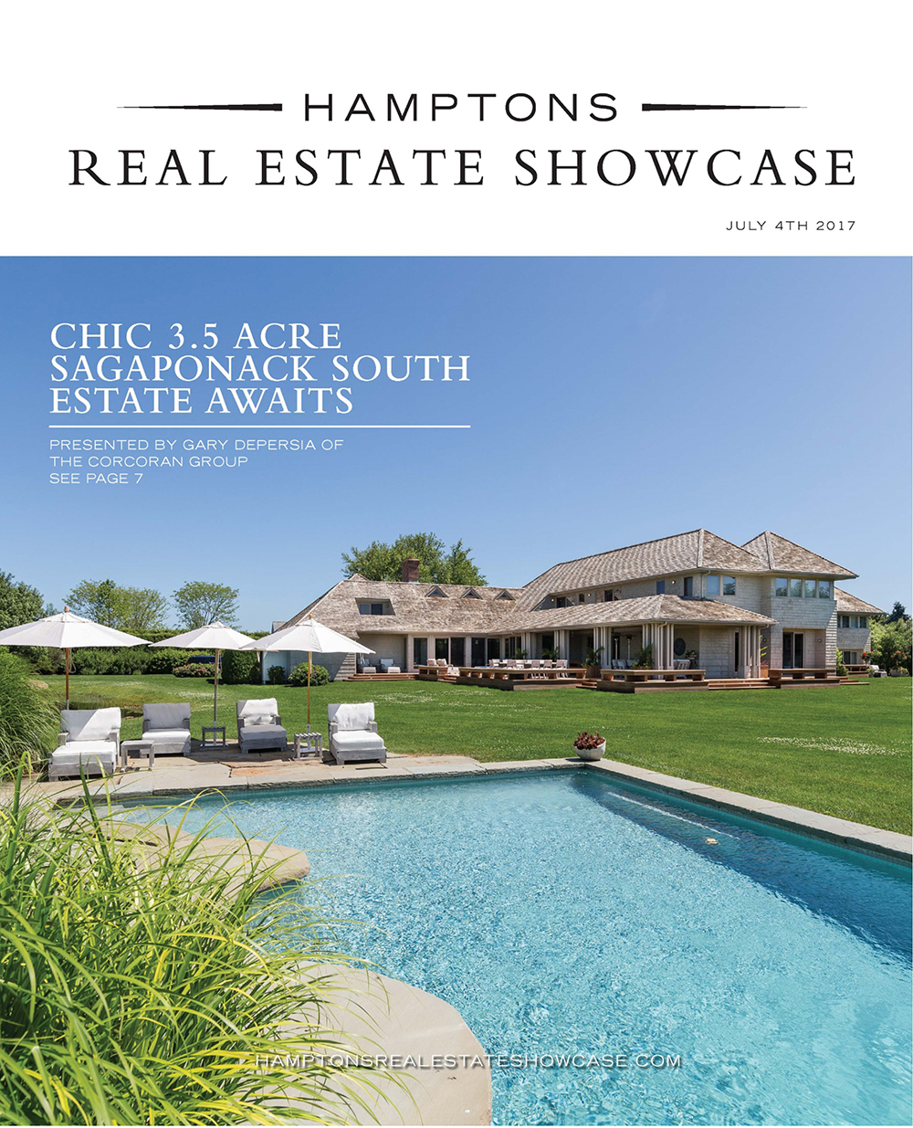 Hamptons Real Estate Show Case a July4 Cover
