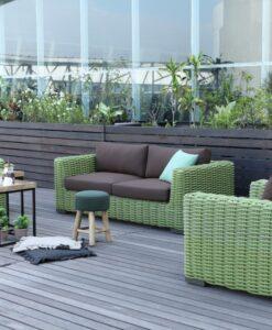 Milar Aloha Modern Wicker Hospitality Outdoor Furniture