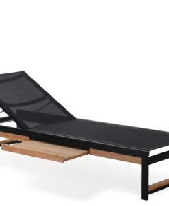 Alar Chaise Lounger Pull Out Tray Luxury Pool Furniture Contract Teak Batyline All Weather