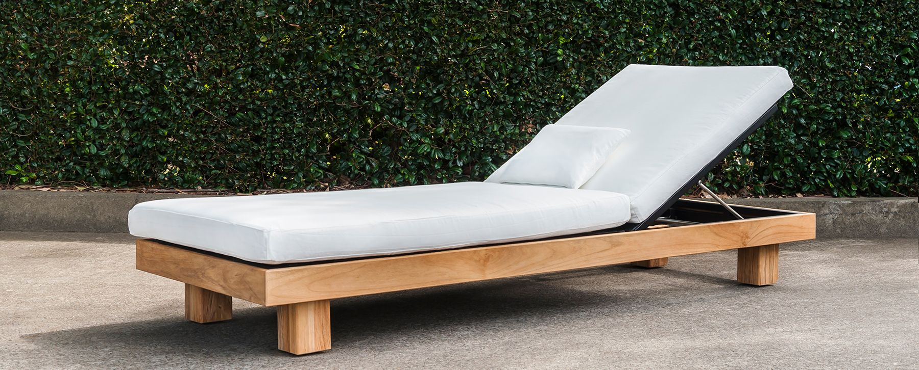 Alura Chaise Lounger Modern Teak Pool Furniture Contract 6