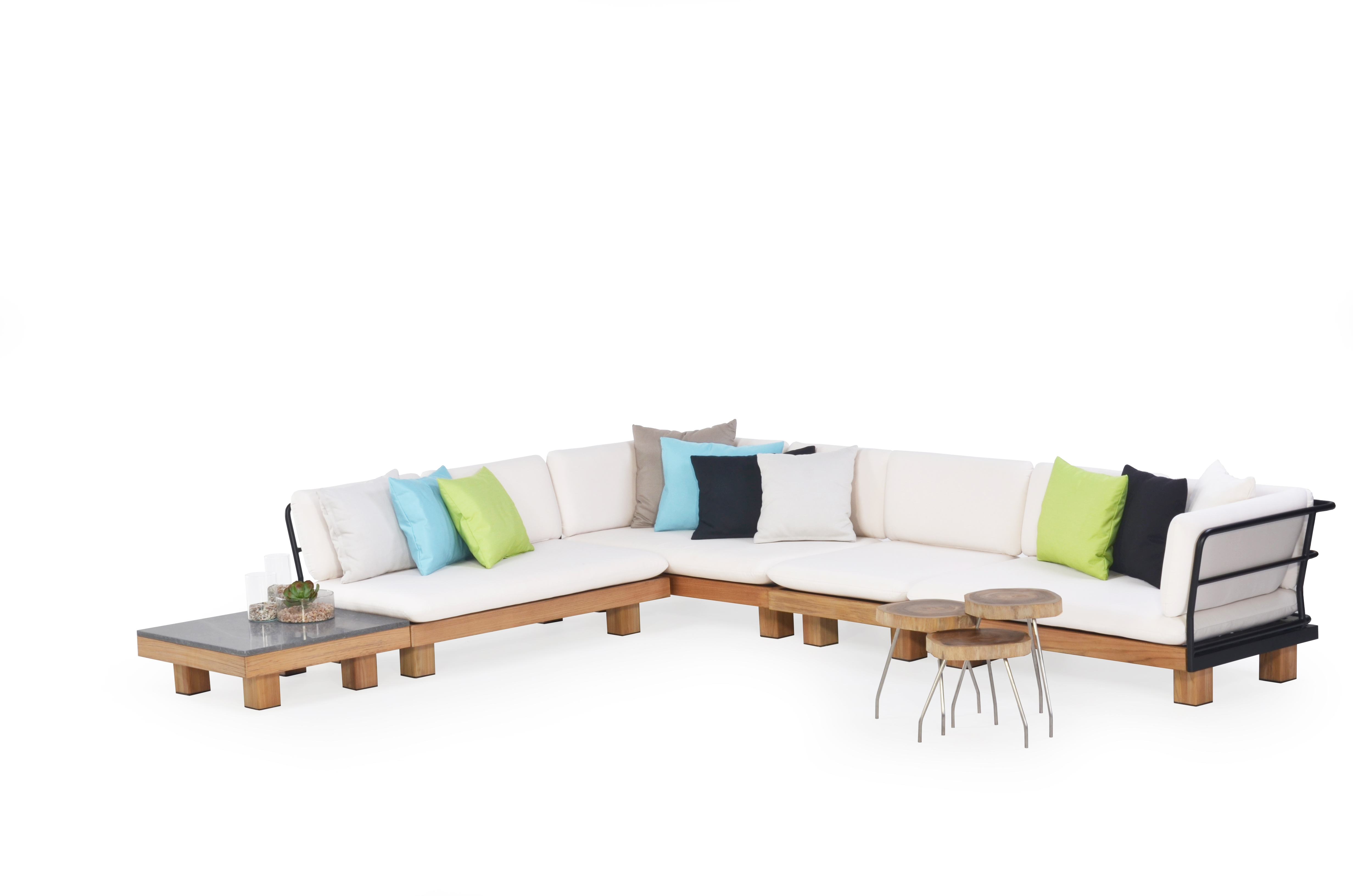 Alura Sectional Sofa Corner Element Modern Teak Pool Furniture Contract  Outdoor