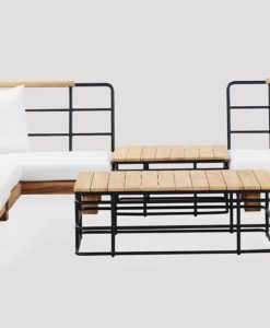 Alura Sectional Sofa Pool Modern Teak Pool Furniture Contract