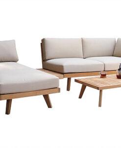 Aura Sectional Sofa Teak Modern Pool Furniture Hospitality Terrace