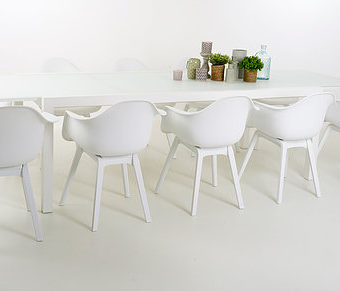 Bea Dining Table Luxury Extendable Glass Table Contract Furniture