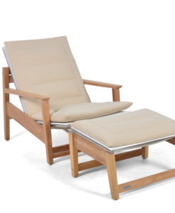 Eli Reclinable Club Chair Modern Pool Terrace Lounge Furniture Hospitality