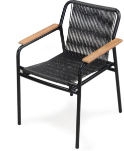 Flyn Stackable Rope Dining Chair Hospitality Contract black