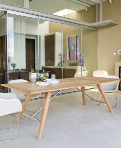 Kaylin Dining Table Modern Teak Restaurant Outdoor Contract
