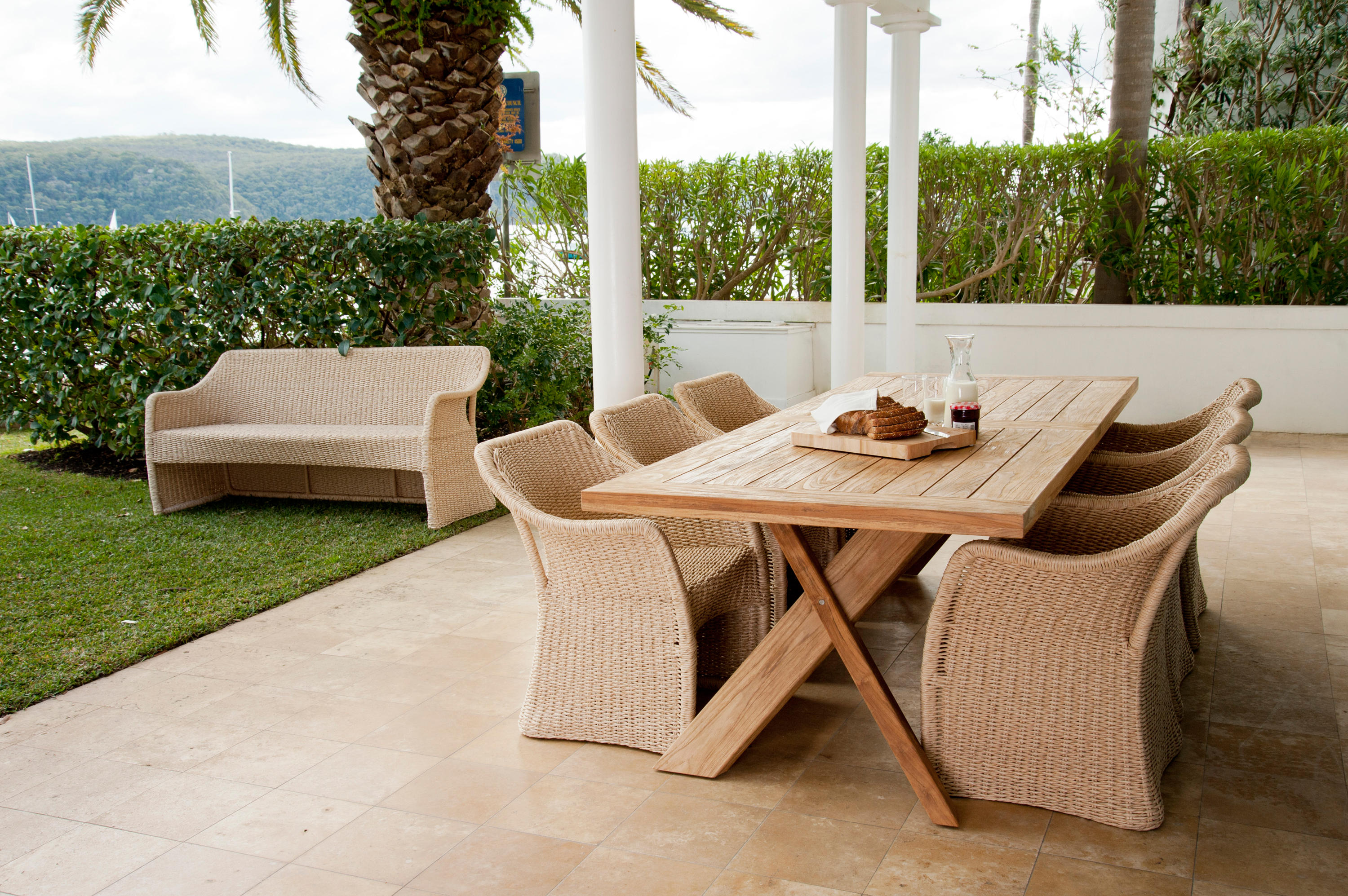 Delightful Nixon Dining Table Traditional Teak Outdoor Furniture Restaurants W Elana  Chair