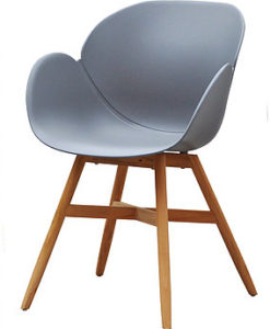Mila Dining Chair Modern Restaurant Hospitality Teak Patio Furniture
