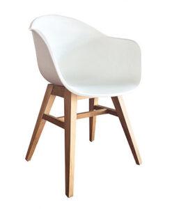 Modern Teak Polypropyleen Chair W Arms