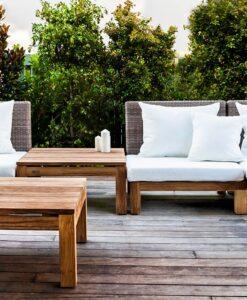 Peter Sectional Sofa Traditional Wicker:Teak Pool Patio Furniture Hospitality Florida