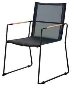 Modern Batyline Stainless Steel Teak Dining Chair