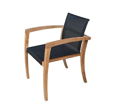 Elgar Dining Chair Teak Batyline Outdoor Restaurant Contract Furniture