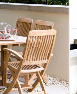 Bridgehampton Dining Chair Teak Traditional Patio Restaurant Outdoor Furniture