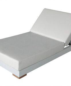 Modern Aluminum Dry Foam Chaise Lounger