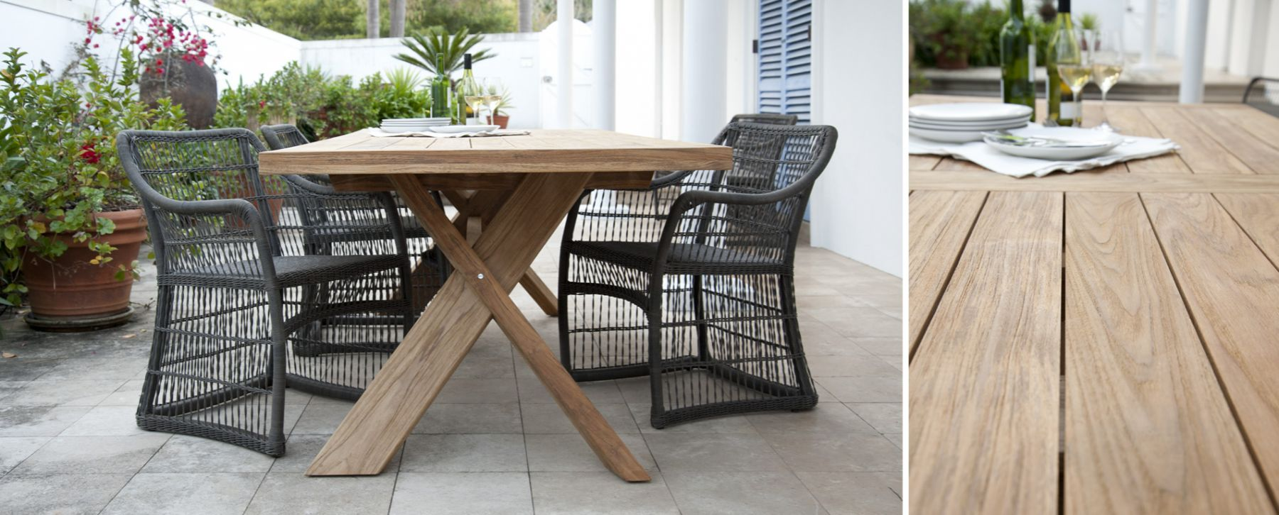 Superior Nixon Dining Table Traditional Teak Outdoor Furniture Restaurants W Elana  Chair 1