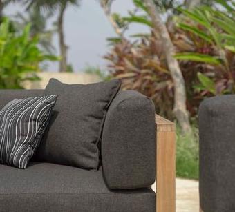 Belize Teak Close Up Fabric Sofa Outdoor Furniture Modern