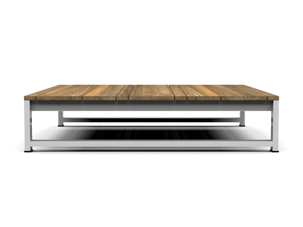Modern Teak White Black Aluminum Coffee Table Contract Hotels Barn Style - Black aluminum outdoor coffee table