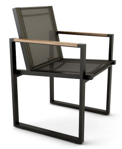 Modern Teak Aluminum Ferrari Batyline Dining Chair