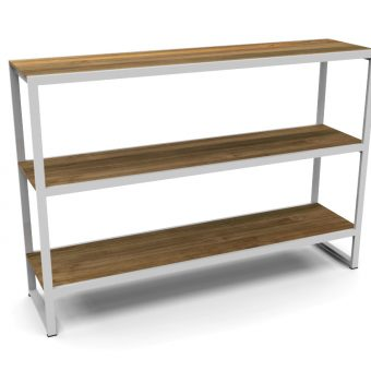 Bermudafied-modern teak white black outdoor storage shelves decor Rack-3 (1)