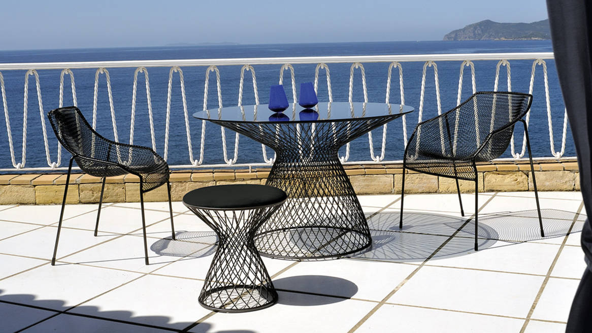 Cielo Dining Chair Couture Outdoor - Commercial outdoor table and chairs