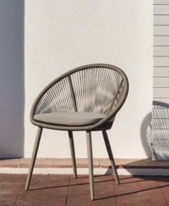 Modern Rope Stainless Steel Cushion Dining Chair