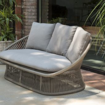 Modern Rope Stainless Steel 3 Seater Sofa