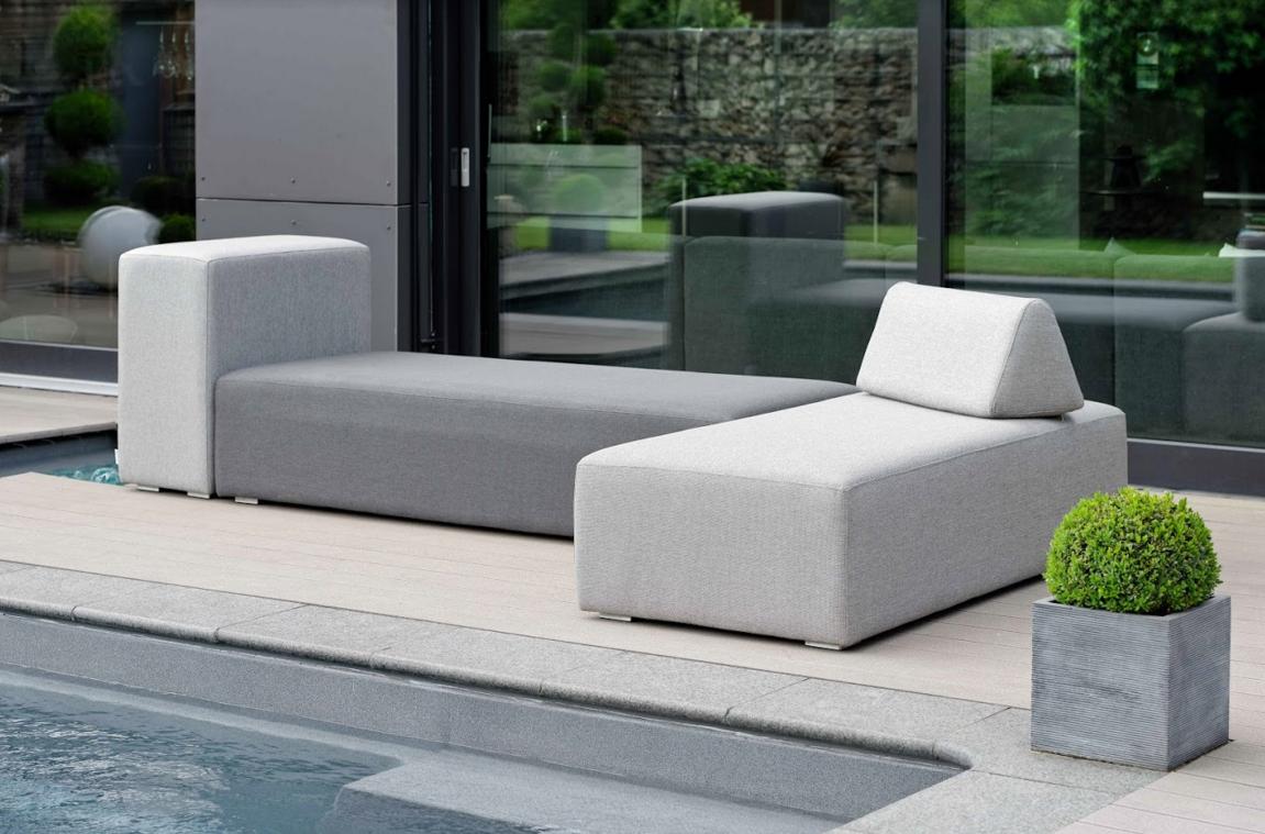 Delightful Adonis Modular Outdoor Fabric Outdoor Furniture Bold Modern Adjustable  Backrest Luxe Living Luxury Living
