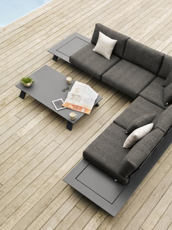 Dream Sofa Black Modern Outdoor Sectional Ofa Contract Hospitality Hotel  Restuarant Beach Club House Miami Fl