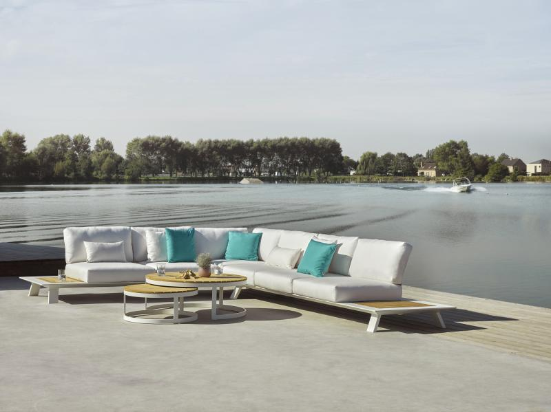 Dream Sofa Modern White Teak Outdoor Sofa Lounge Area Hotel Restuarant Beach  Club House Miami Fl Hamptons Ny Los Angeles Ca