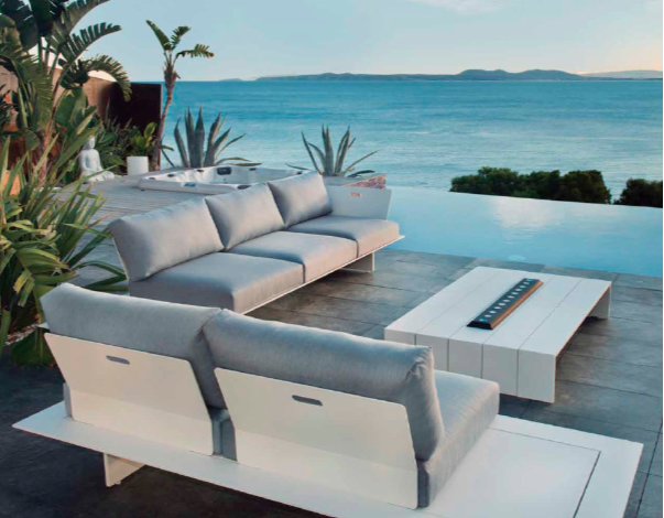 Dream Sofa White Modern Outdoor Sofa Adjustable Removeable Back Miami Fl  Hamptons Ny Los Angeles Ca