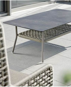 agreta coffee table cantilever champagne chair contemporary outdoor furniture residential Hamptons Greenwich