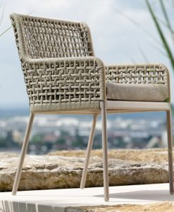 agreta dining taupe dining chair modern rope