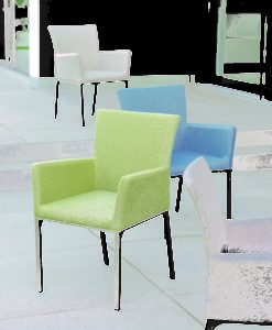 Modern Powder Coated Aluminum Outdoor Dining Chair