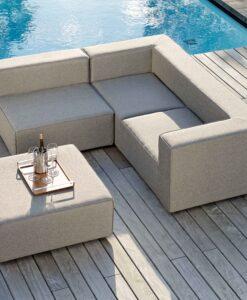 Adele sectional modular sofa transitional contemporary modern grey outdoor european fabric