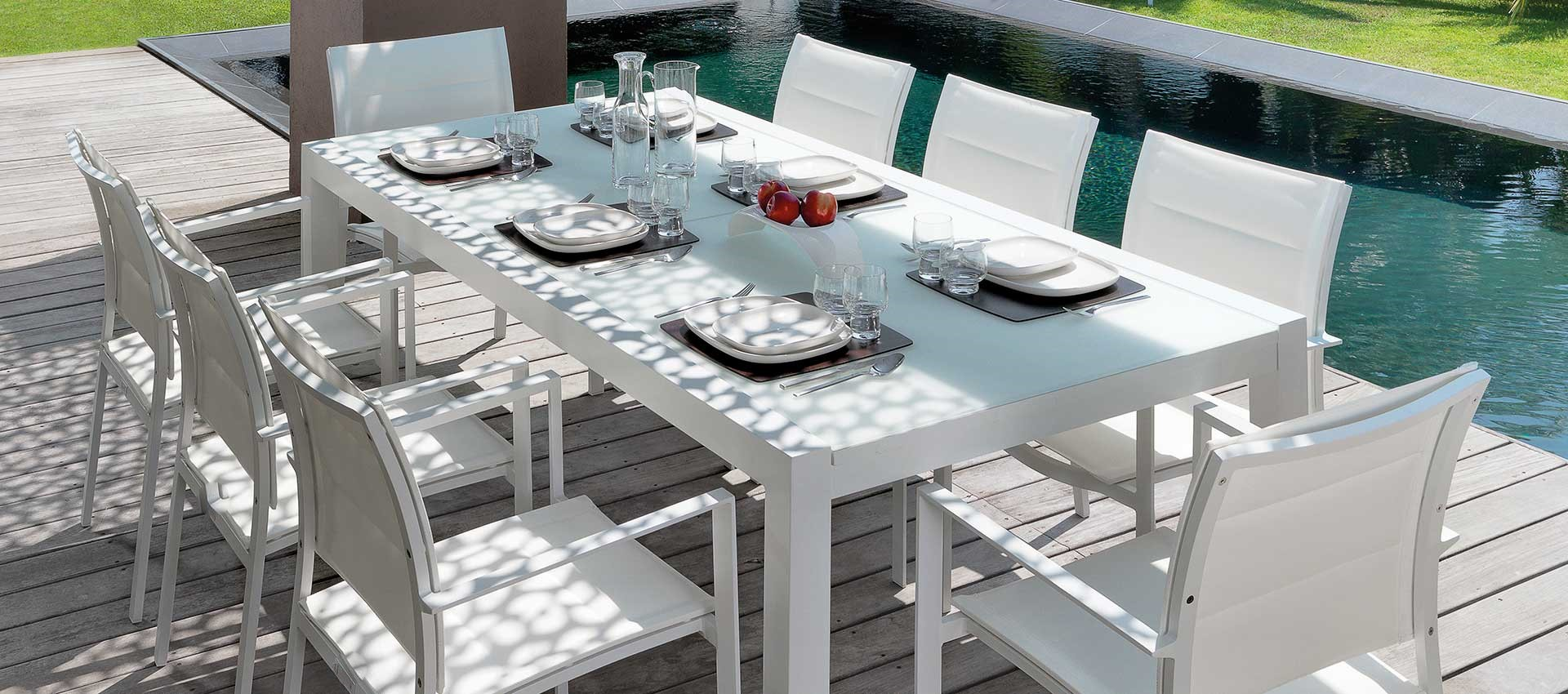 August Dining Extendable Table Chairs White Batyline3