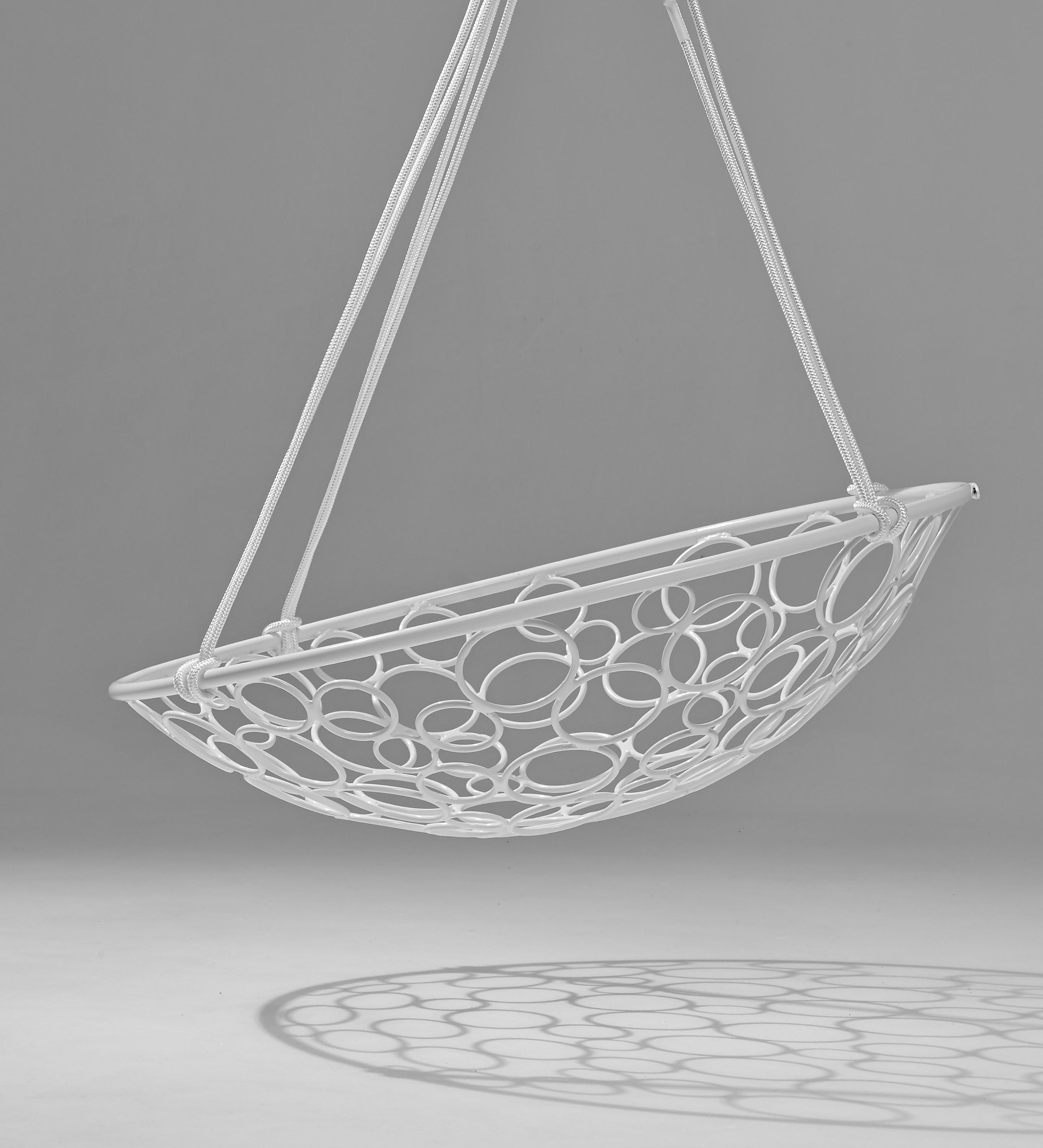 Lilly Circle White Modern Hammock Hanging Designer Swing Chair Daybed  Lounge Hotel Contract Furniture Luxury