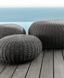 Modern Classic Rope Outdoor Ottomans