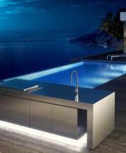 Sleek Altea Gas BBQ Grills Luxury Custom Modern Design Elite Stainless Steel Outdoor Kitchens