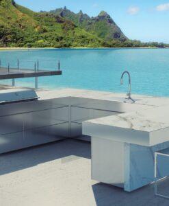Sleek Altea Luxury High End Marble Gas BBQ Grill Modern Beach House