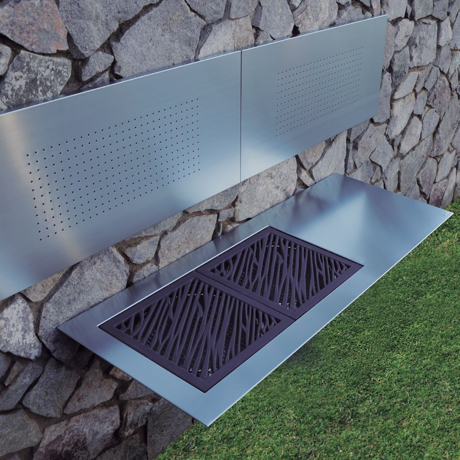 Sleek Cantilever Double Charcoal BBQ Grill - Couture Outdoor