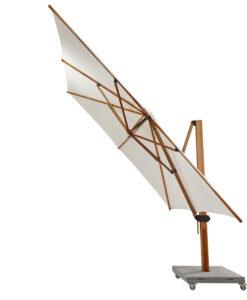 bjorn teak cantilever umbrella 360 rotation tucci plantation look