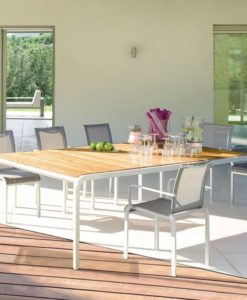 outdoorTeak or Corian Outdoor Dining Tabledining-table Teak & Corian