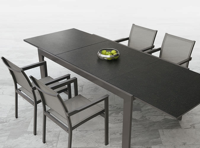 Bollinger Extendable Champagne Dining Table