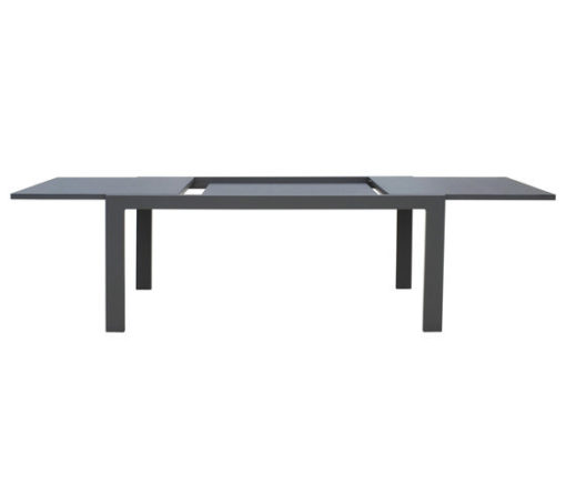 Bollinger Champagne Extendable Table Ceramic Luxury Outdoor Modern Black Aluminum Furniture Hamptons Miami