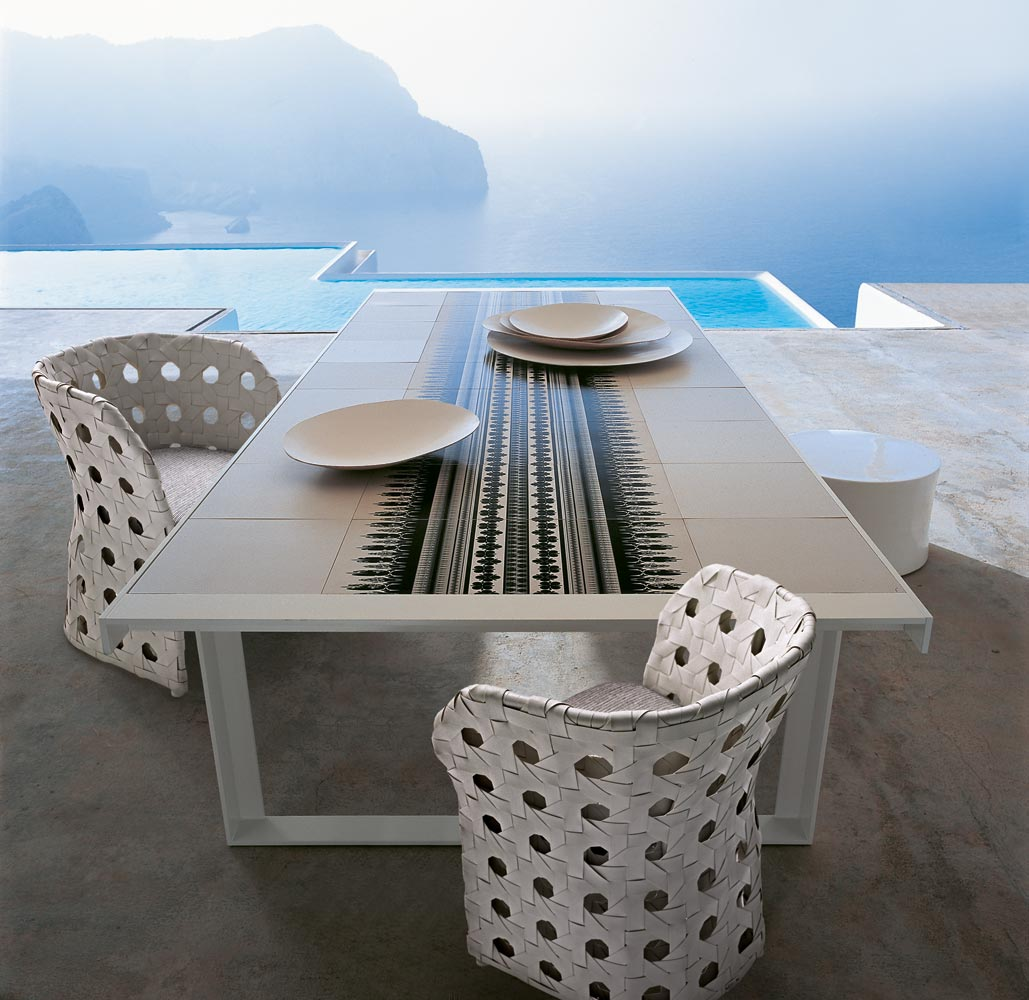B b italia canasta dining table couture outdoor for B b in italia