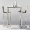 Manutti Trento Stainless Steel Bar Table Luxury with beautiful lines and modern aesthetic.